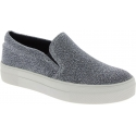 Steve Madden Fashion slip-on shoes for women in silver technical fabric