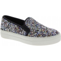 Steve Madden Women's fashion slip-on laceless shoes in multicolor glitter