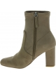 Steve Madden Women's block heels ankle boots in taupe suede effect fabric