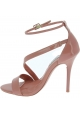 Steve Madden Women's high heels ankle strap sandals in pink patent leather