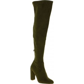 Steve Madden Women's heels overknee boots in green sued effect fabric