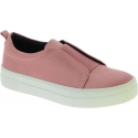 Steve Madden Women's fashion platform laceless slip-on shoes in pink satin