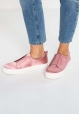 Steve Madden Women's fashion platform laceless slip-on shoes in pink satin