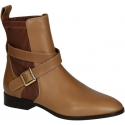 Chloé women's ankle boots in Camel Soft leather