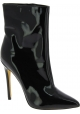Steve Madden Women's pointy high stiletto ankle boots black patent leather