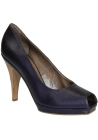 Marni open toe pumps in Violet metallic leather