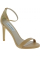 Steve Madden Women's high stiletto heels sandals buckle in nude faux leather