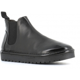 Marsèll Women's fashion ankle boots in black napa leather made in Italy