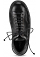 Marsèll Women's fashion lace-ups shoes in black calf leather made in Italy