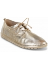 Marsèll Women's fashion round toe lace-ups shoes in platinum laminated leather