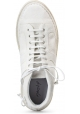 Marsèll Women's lace-ups ankle boots in white suede leather made in Italy