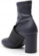 Maison Margiela Women's fashion square heeled ankle boots blue napa leather