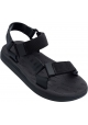 Melissa Women's fashion flat sandals in black rubber with velcro closure