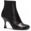Maison Margiela Women's spool heels ankle boots black calf leather side zip