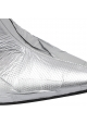 Maison Margiela Women's heels pointy ankle boots in silver synthetic leather