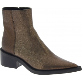 Maison Margiela Women's pointy ankle boots in bronze laminated calf leather
