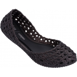 Melissa Women's fashion slip-on ballet flats shoes in black woven rubber