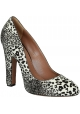 Alaïa heeled pumps shoes in leopard texture pony leather