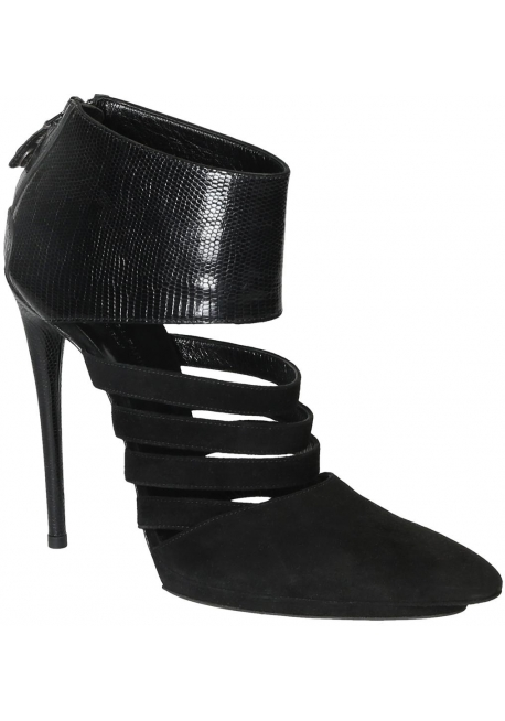 9ef190d6a8c Balenciaga black suede high stiletto heels booties - Italian Boutique