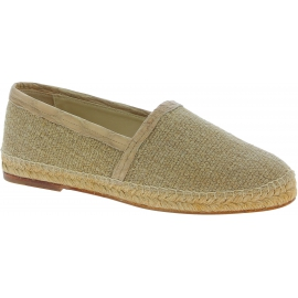 Dolce&Gabbana Men's fashion espadrilles in beige caiman leather and fabric