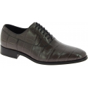 Dolce&Gabbana gray crocodile leather oxfords lace-ups