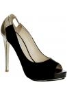 Burakuyan peep toes in black suede leather