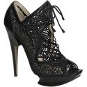 Nicholas Kirkwood heels booties in black Leather Fabric