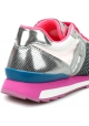 Hogan Women's fashion low top sneakers shoes in metallic pink leather fabric