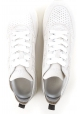 Hogan Women's fashion lace-ups sneakers shoes in platinum suede leather