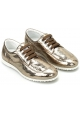 Hogan Women's lace-ups sneakers shoes in platinum laminated calf leather