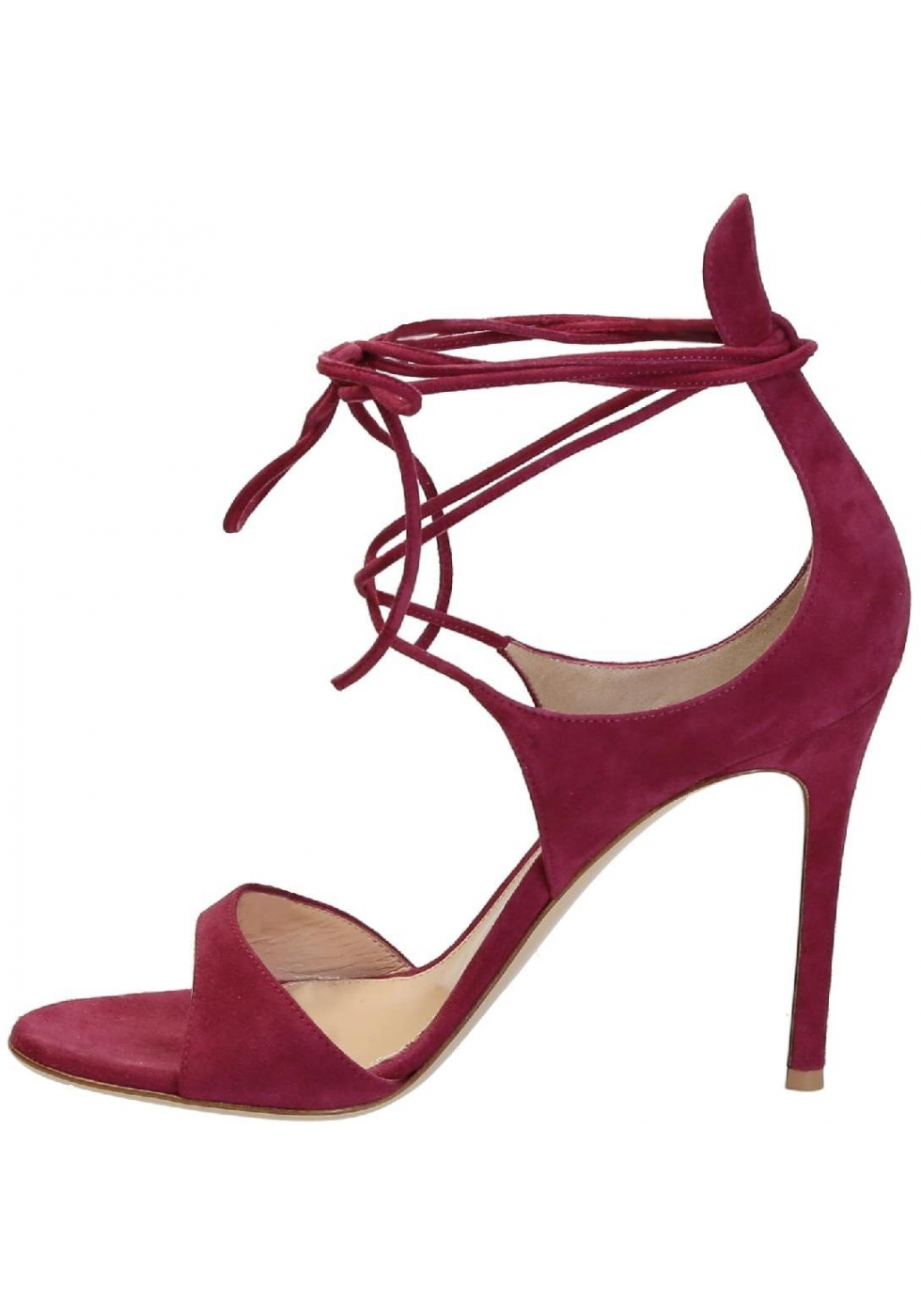 ... Gianvito Rossi high heel sandals in Fuchsia suede leather ...