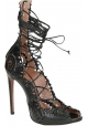 Alaïa high heel sandals in black strappy leather