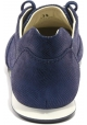 Hogan Women's fashion low lace-ups sneakers shoes in blue leather wet effect