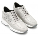 Hogan Women's fashion lace-ups sneakers shoes in light gray suede leather
