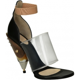 Givenchy block high heel sandals in black Calf leather