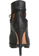 Alaïa heeled booties open toe in black Fabric