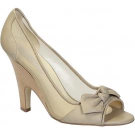 Stella McCartney open toe pumps in beige Faux leather