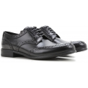Dolce & Gabbana womens derbies in black calf leather