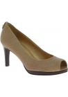 Stuart Weitzman Women's peep toe high heeled pumps in beige python leather