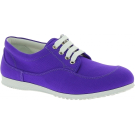 Hogan Women's fashion round toe low top sneakers shoes in purple canvas