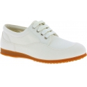 Hogan Women's fashion low top round toe sneakers shoes in white canvas