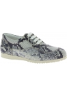 Hogan Women's fashion sneakers shoes white gray calf leather python pattern