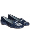 Chiara Ferragni ballerinas in blue sequins & silver eye