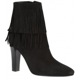 Saint Laurent Lily black suede heels ankle boots