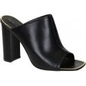 Céline heeled slides sandals in black Leather