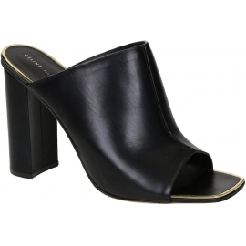 Céline heeled slides sandals in black Leather