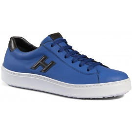 Hogan H302 men's sneakers shoes in blue leather