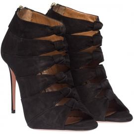 Aquazzura high heel sandals in black Suede leather