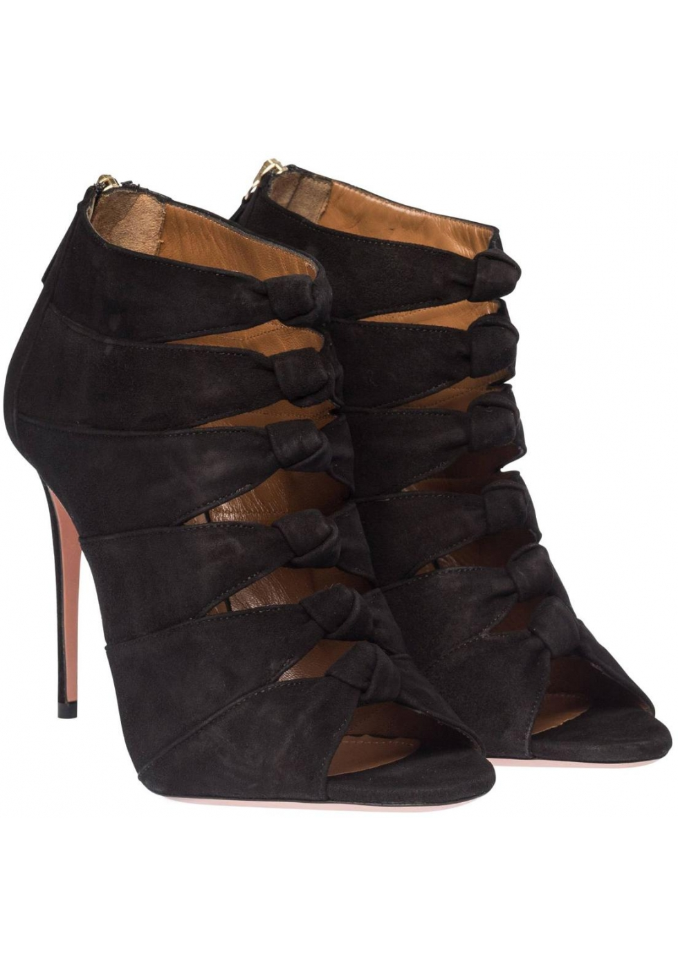 fcf3861ff7d Aquazzura high heel sandals in black Suede leather - Italian Boutique
