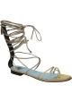 Lanvin flats strappy sandals in gold Calf leather